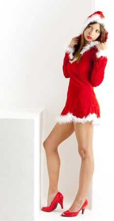 christmas motive: female Santa Claus