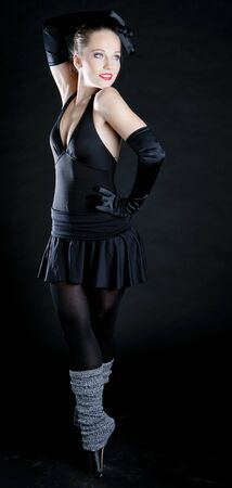 ballet dancer in black clothes photo