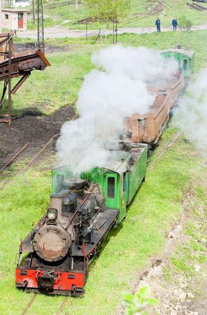 kostolac: steam freight train, Kostolac, Serbia Stock Photo