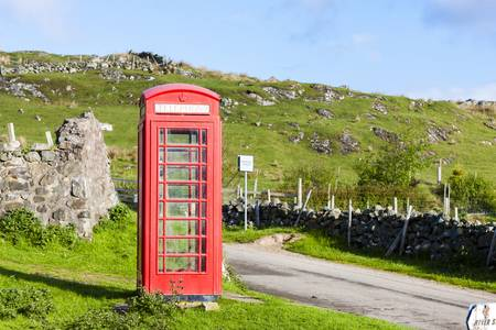 telephone booth, Clashnessie, Highlands, Scotland photo