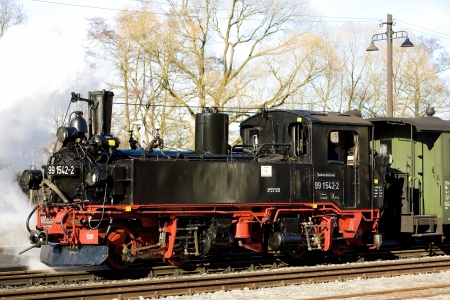 steam locomotive, Steinbach - Jöhstadt, Germany Stock Photo - 18114105