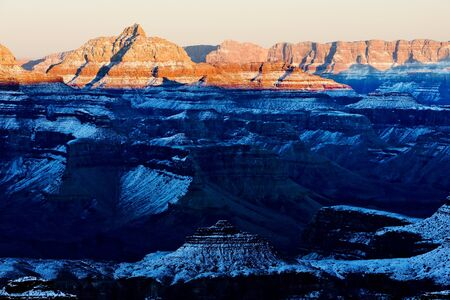 Grand Canyon National Park in winter, Arizona, USA photo