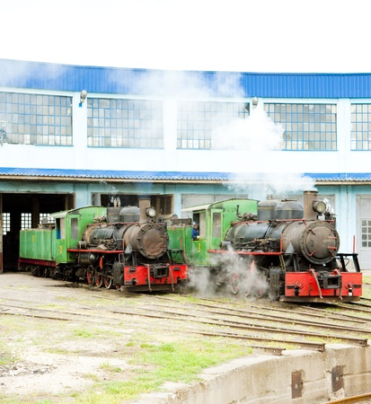 yugoslavia federal republic: steam locomotives in depot, Kostolac, Serbia