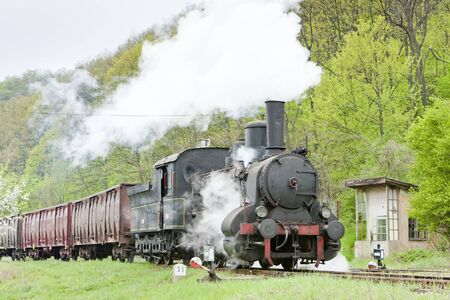 steam freight train (126.014), Resavica, Serbia Stock Photo - 18640199