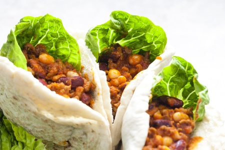 pita bread filled with Mexican mixture Stock Photo - 18639365
