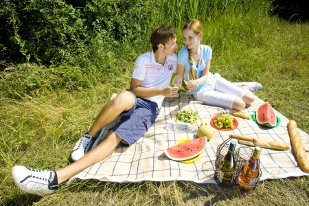 couple at a picnic photo