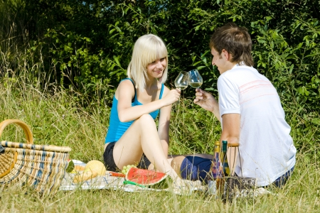 couple at a picnic photo