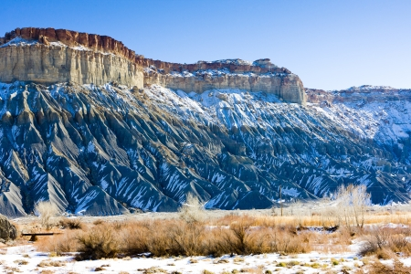the silence of the world: winter landscape of Utah, USA Stock Photo