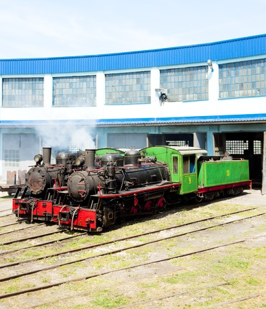 steam locomotives in depot, Kostolac, Serbia photo