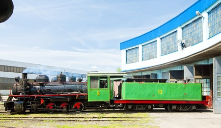 steam locomotive in depot, Kostolac, Serbia Stock Photo - 20425800