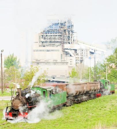 steam freight train, Kostolac, Serbia Stock Photo - 20431050