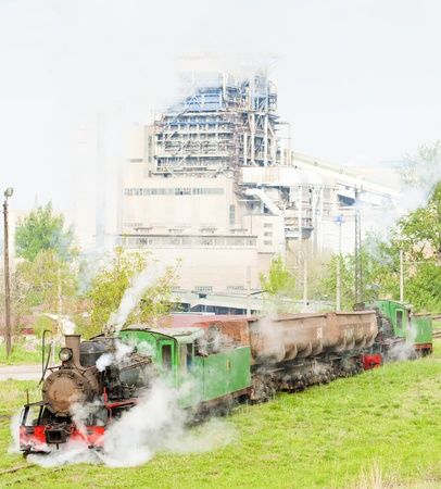 yugoslavia federal republic: steam freight train, Kostolac, Serbia Stock Photo