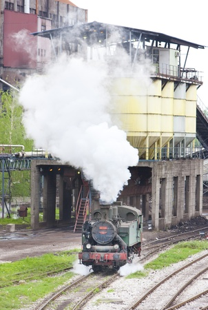 yugoslavia federal republic: steam locomotive, Kolubara, Serbia