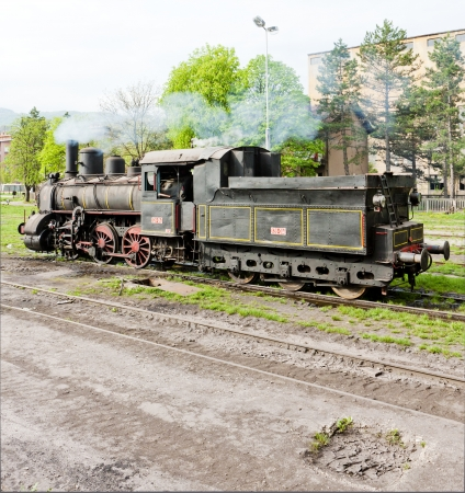 balkan peninsula: steam locomotive (126.014), Resavica, Serbia
