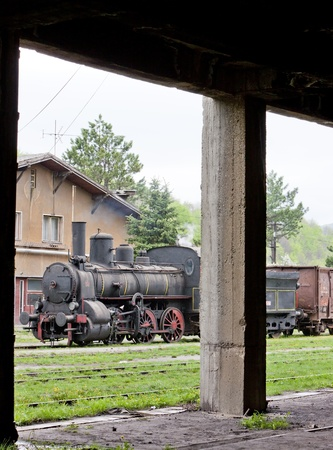 yugoslavia federal republic: steam locomotive (126.014), Resavica, Serbia