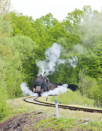 steam freight train in Tuzla region, Bosnia and Hercegovina Stock Photo - 20431214