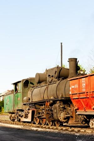 former yugoslavia: steam locomotive, delivery point in Oskova, Bosnia and Hercegovina