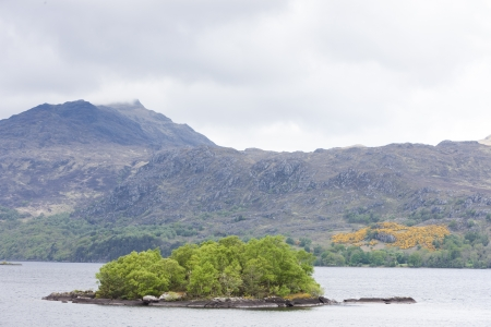 the silence of the world: Loch Maree, Highlands, Scotland Stock Photo