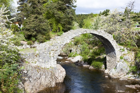 Old Packhorse bridge, Carrbridge, Highlands, Scotland Stock Photo - 20431378