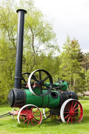 traction engine, Carrbridge, Highlands, Scotland Stock Photo - 20425827