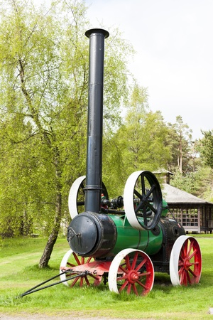 strathspey: traction engine, Carrbridge, Highlands, Scotland