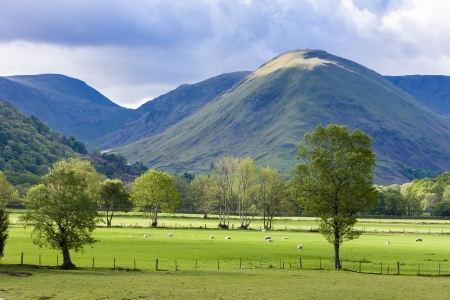lake district england: landscape of Lake District, Cumbria, England