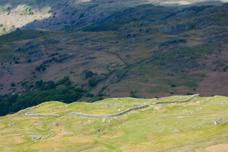 Hardknott Roman fort, Hardknott Pass, Cumbria, England photo