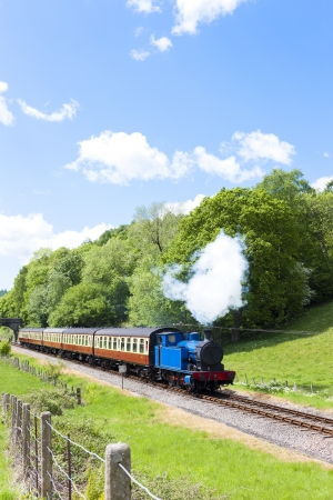 steam train, Lakeside and Haverthwaite Railway, Cumbria, England photo