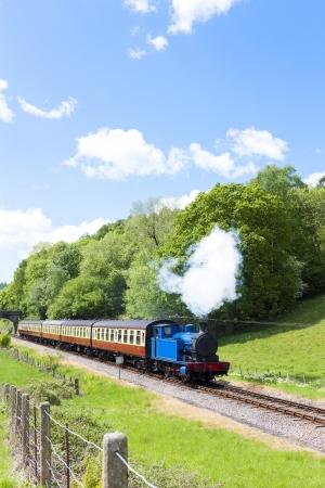 steam train, Lakeside and Haverthwaite Railway, Cumbria, England Stock Photo - 20862418