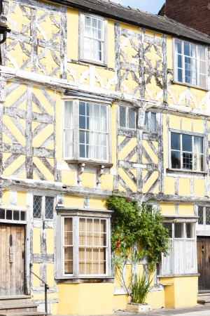 timbered: half timbered house, Ludlow, Shropshire, England