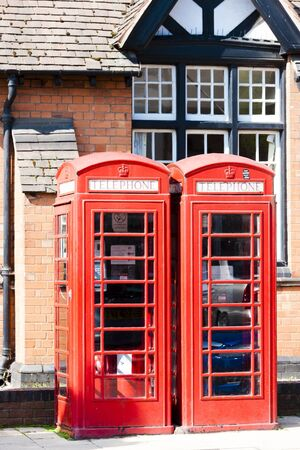 telephone booths, Stratford-upon-Avon, Warwickshire, England photo