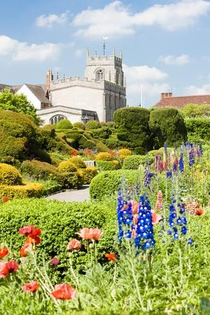 warwickshire: New Place garden, Stratford-upon-Avon, Warwickshire, England