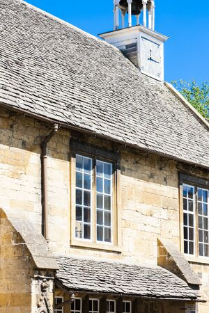 chipping: facade of house, Chipping Camden, Gloucestershire, England