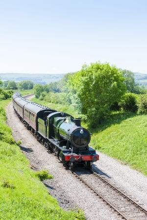 steam train, Gloucestershire Warwickshire Railway, Gloucestershire, England Stock Photo - 21242587