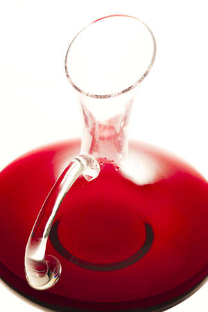 carafe: carafe with red wine