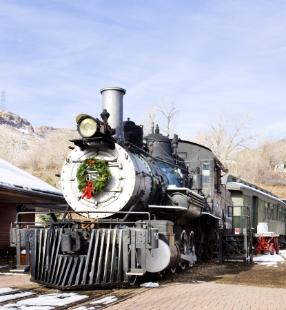 stem locomotive in Colorado Railroad Museum, USA Stock Photo - 21842020