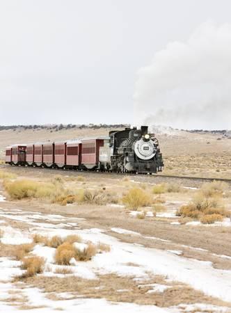 Cumbres and Toltec Narrow Gauge Railroad, Colorado, USA Stock Photo - 21842021