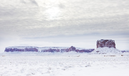 Monument Valley National Park in winter, Utah-Arizona, USA Stock Photo - 21921428