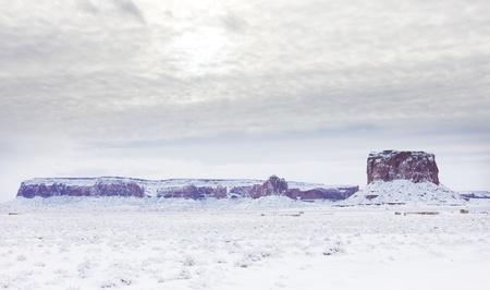 Monument Valley National Park in winter, Utah-Arizona, USA Stock Photo - 21921428