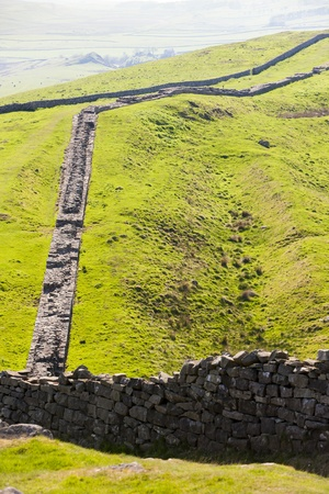 Hadrians wall, Northumberland, England photo