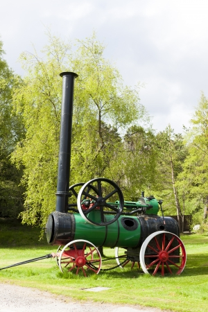 traction engine, Carrbridge, Highlands, Scotland Stock Photo - 21937841