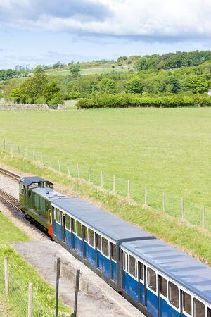 narrow gauge railroads: Ravenglass and Eskdale narrow gauge railway, Cumbria, England Editorial