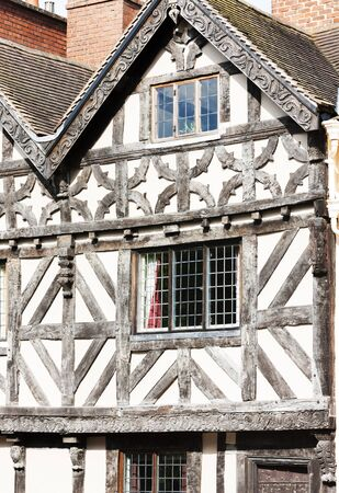 half timbered house: half timbered house, Ludlow, Shropshire, England