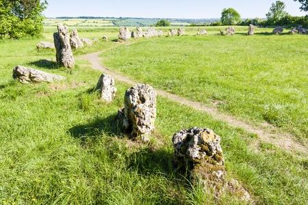 steencirkel: 'The King's Men steencirkel, Oxfordshire, Engeland Stockfoto