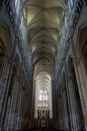 gothic build: interior of Cathedral Notre Dame, Amiens, Picardy, France