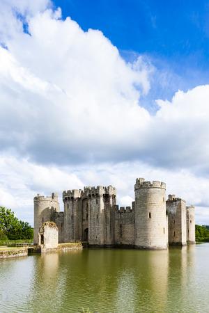 sussex: Bodiam Castle, East Sussex, England Editorial