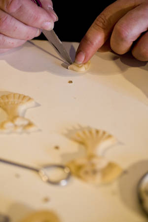 ilustrations: production of special pastry