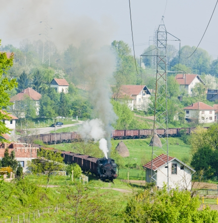 steam freight train, Durdevik, Bosnia and Hercegovina photo