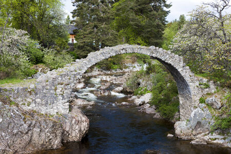 old packhorse bridge: Old Packhorse bridge, Carrbridge, Highlands, Scotland Stock Photo