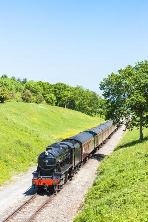 steam train, Gloucestershire Warwickshire Railway, Gloucestershire, England Stock Photo - 24165902